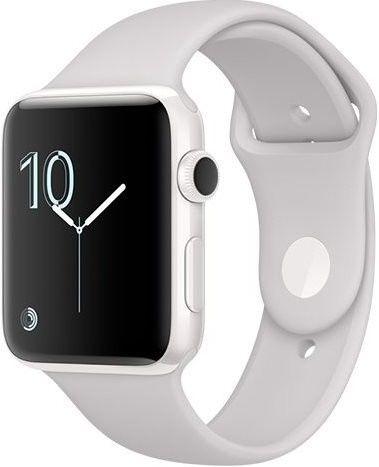 Apple Watch Series 2 42mm bílá keramika/bílý sportovní řemínek