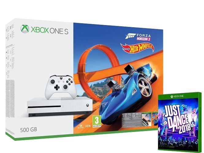 Xbox One S 500GB bílá + Forza Horizon 3 + Hot Wheels DLC + Just Dance 2018