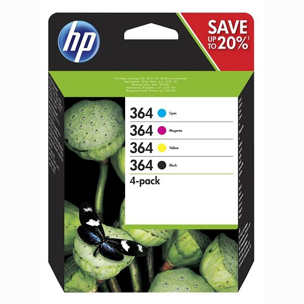 HP N9J73AE No.364 black + No.364 color - inkoust