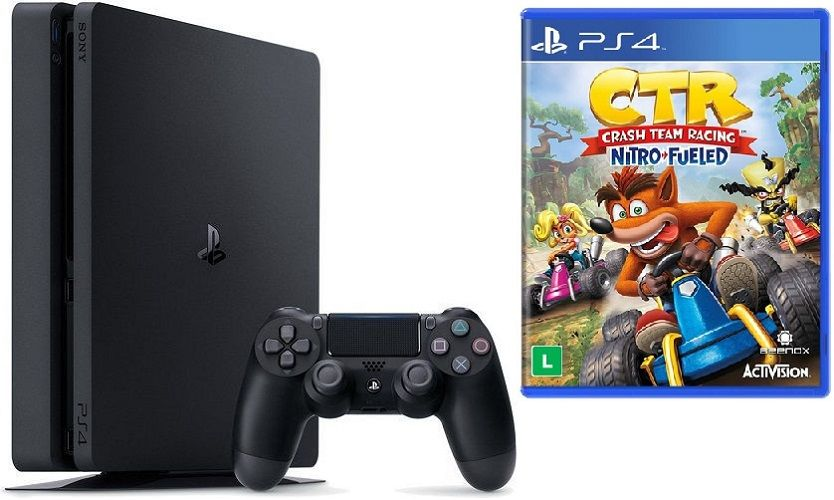 Sony PlayStation 4 Slim 1TB + Crash Team Racing + 2x ovladač