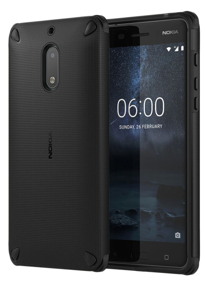 Nokia Rugged Impact Case pro Nokia 6, Pitch black