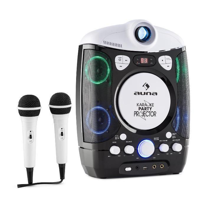 Auna Kara Projectura černo-šedý karaoke systém