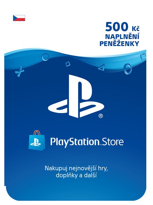 PlayStation Live karta pro nabití účtu za 500Kč