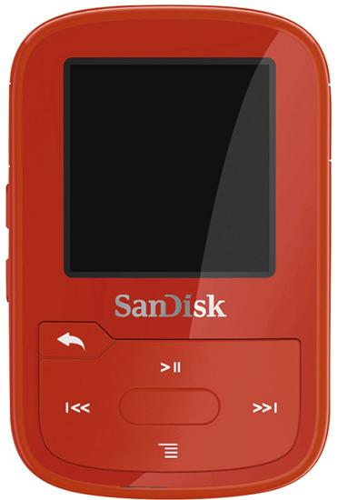 SanDisk Sansa Clip Sport Plus 16 GB červený