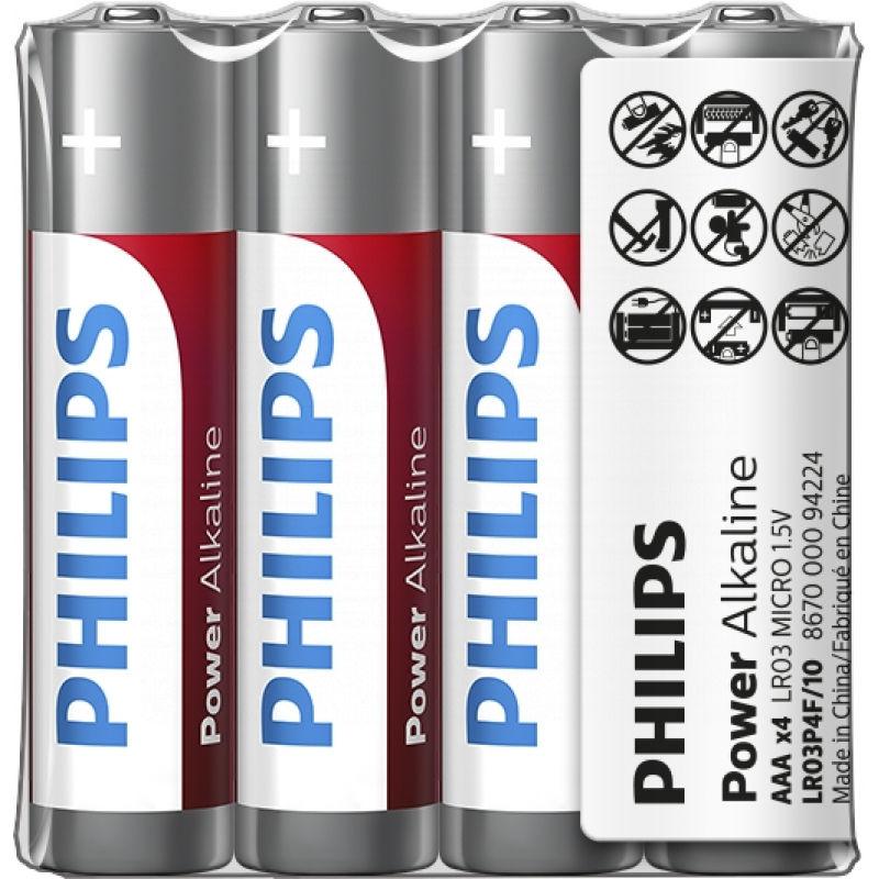 Philips Power Alkaline LR03P4F/10 4xAAA