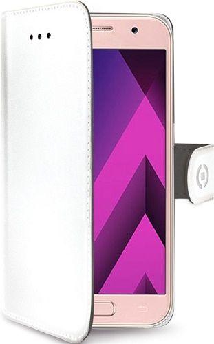 Celly Wally knížkové pouzdro pro Samsung Galaxy A3 2017, bílá