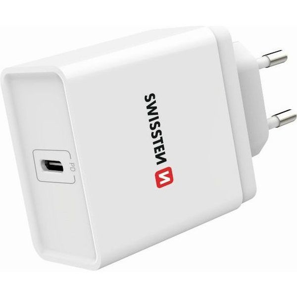 Swissten Power Delivery USB-C 18W síťový adaptér bílý