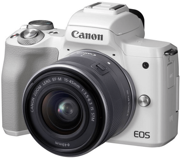 Canon EOS M50 bílý + EF-M 15-45IS STM + EF-M 22 STM