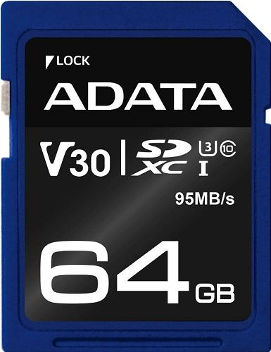 ADATA Premier Pro microSDXC 64GB 95MB/s UHS-I U3