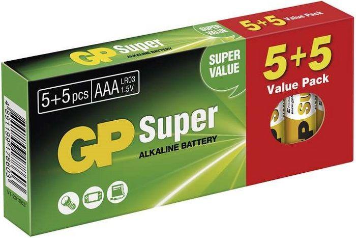GP Super Alk AAA 5+5 Baterie