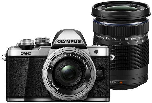 Olympus E-M10 Mark II + M. Zuiko ED 14-42 mm EZ + M.Zuiko 40-150 mm R stříbrný