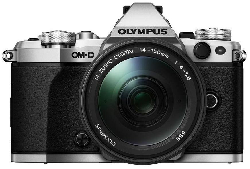 Olympus OM-D E-M5 Mark II stříbrná + M.ZUIKO Digital 14-150 mm f/4-5,6 II + dárek Olympus M.Zuiko ET-M4518 45mm (černý) - objektiv zdarma