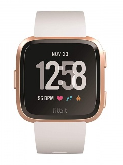 Fitbit Versa růžově zlaté s bílým řemínkem