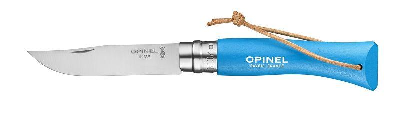 Opinel N°07 Trekking azurový nůž s poutkem