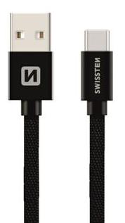 Swissten USB-C kabel 20 cm, černý