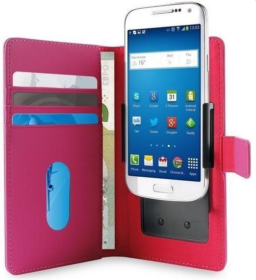 """Puro univerzální flipové pouzdro pro chytré mobily 5,1"""", růžová"""