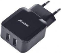 Aligator 2x USB nabíječka Turbo charge + Lightning kabel, černá