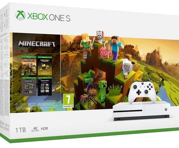 Microsoft Xbox One S 1TB + Minecraft Holiday
