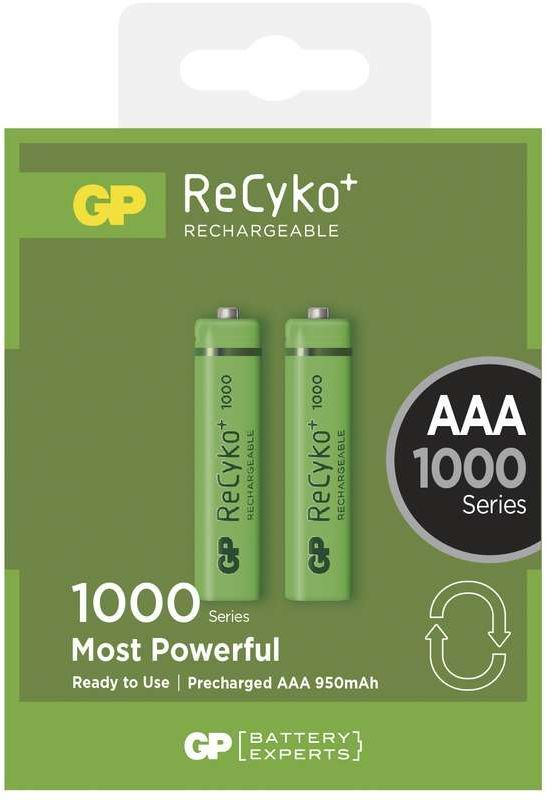GP ReCyko+ 1000 HR03 (AAA), 2 ks - nabíjecí baterie