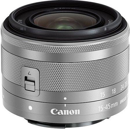 Canon EF-M 15-45 mm f/3.5-6.3 IS STM, stříbrný