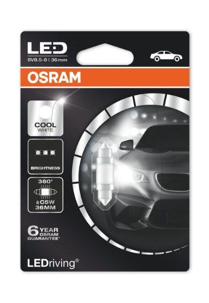 OSRAM SV8.5-8 LEDriving 36mm, Autožárovka 12V/1W
