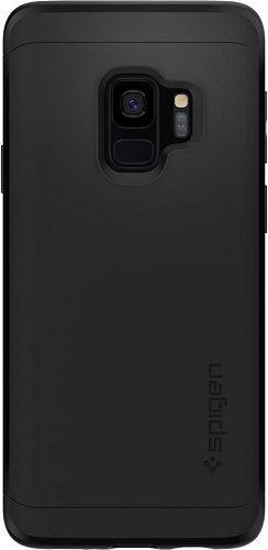 Spigen Thin Fit 360 pouzdro pro Samsung Galaxy S9, černá + sklo