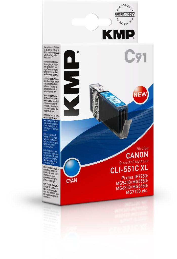KMP C91 komp.recykl.napln CLI-551c XL