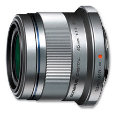 Olympus M.Zuiko ET-M4518 45mm (stříbrný) - objektiv