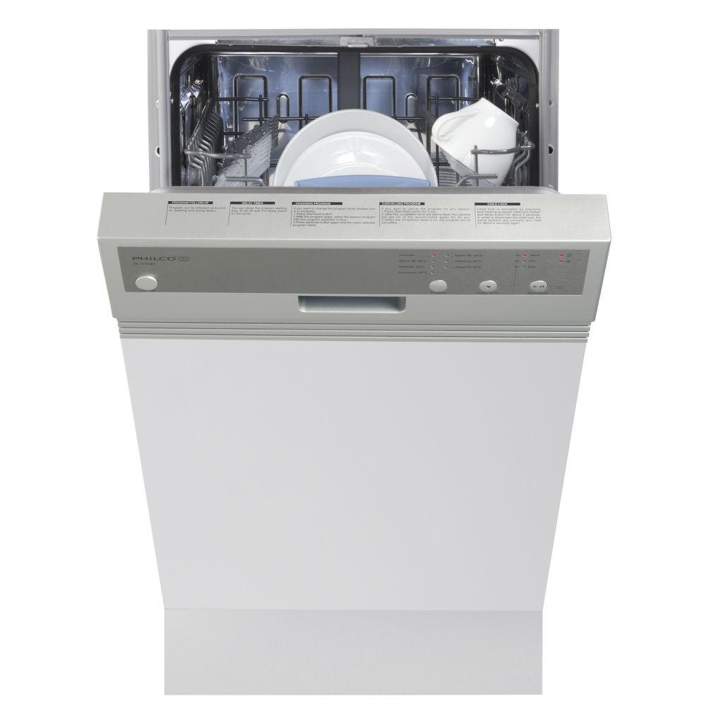 Philco PD1070BIX bílá vestavná myčka nádobí 45 cm