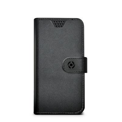 """Celly Unica knížkové pouzdro velikost XL 4.5""""-5"""", černá"""