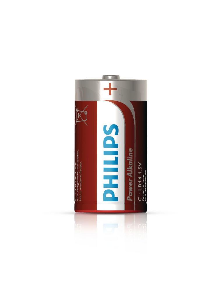 Philips Power Alkaline C (LR14), 2ks