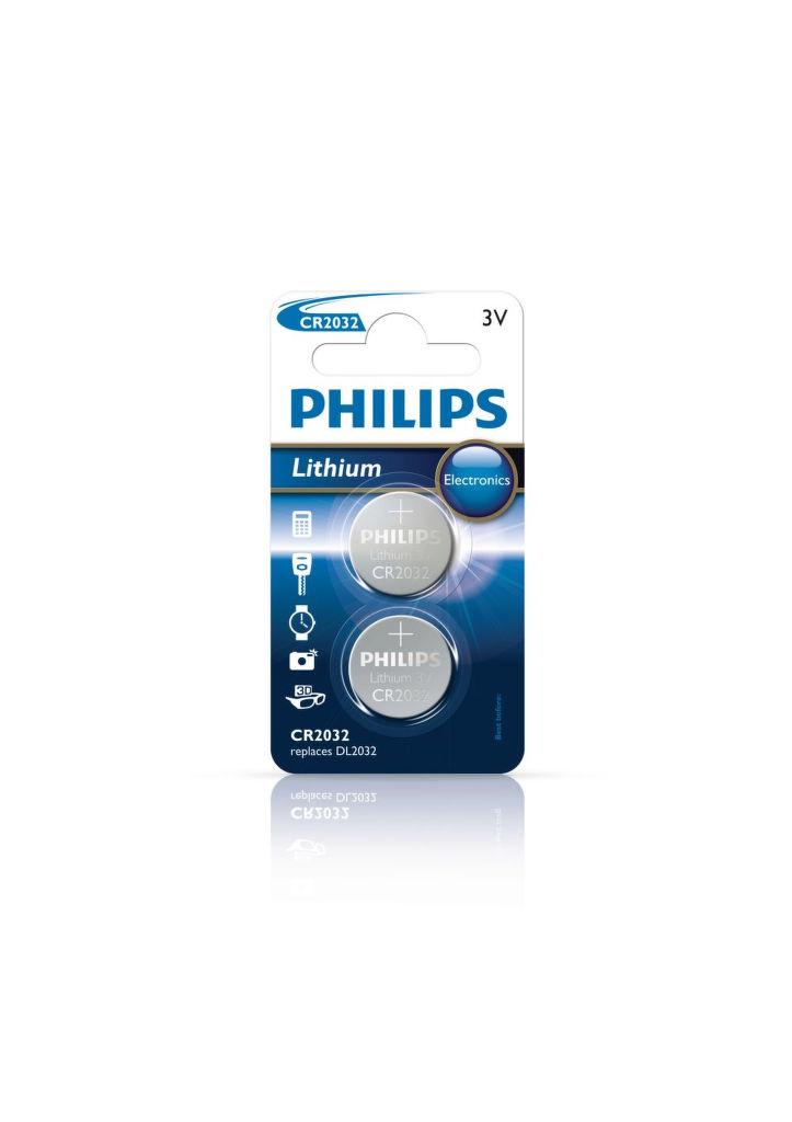 Philips Lithium CR2032, 2ks