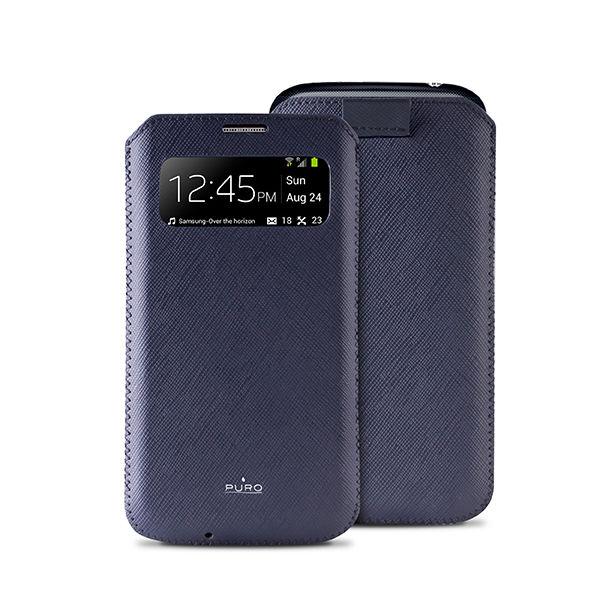 Puro View Slim Essential pouzdro pro Samsung Galaxy S4 (modré)