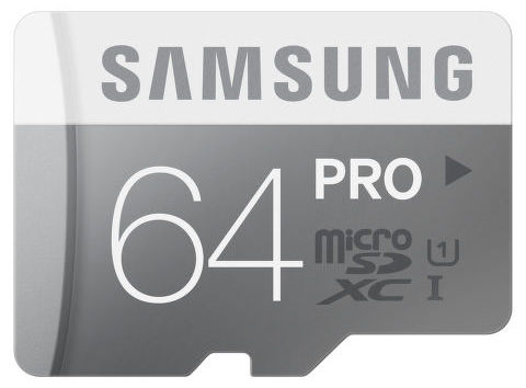 Samsung 64 GB mikro SDHC PRO Class 10
