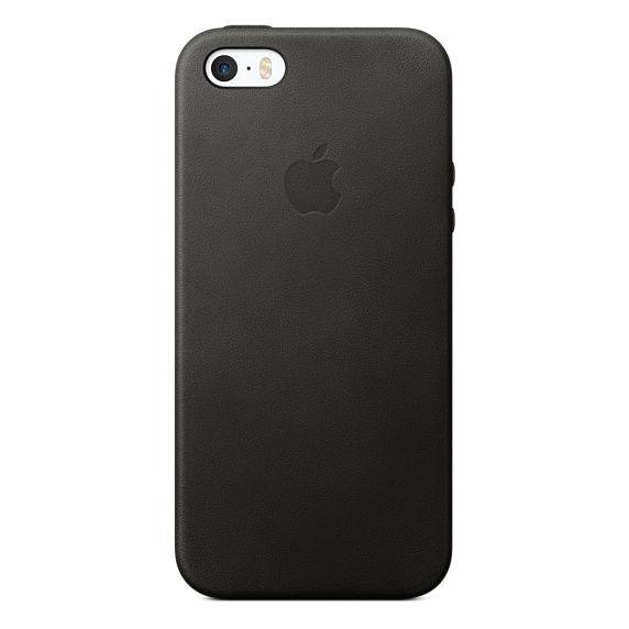 Apple kožený kryt pro iPhone SE, černý