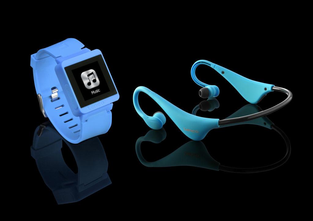 Lenco Sportwatch-100 + BH-100 modré