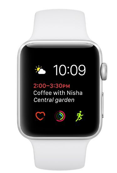 Apple Watch Series 1 38mm stříbrný hliník/bílý sportovní řemínek