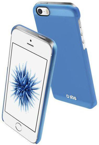 SBS pouzdro pro iPhone SE/5/S, TEFEELIPSEB (modrá)