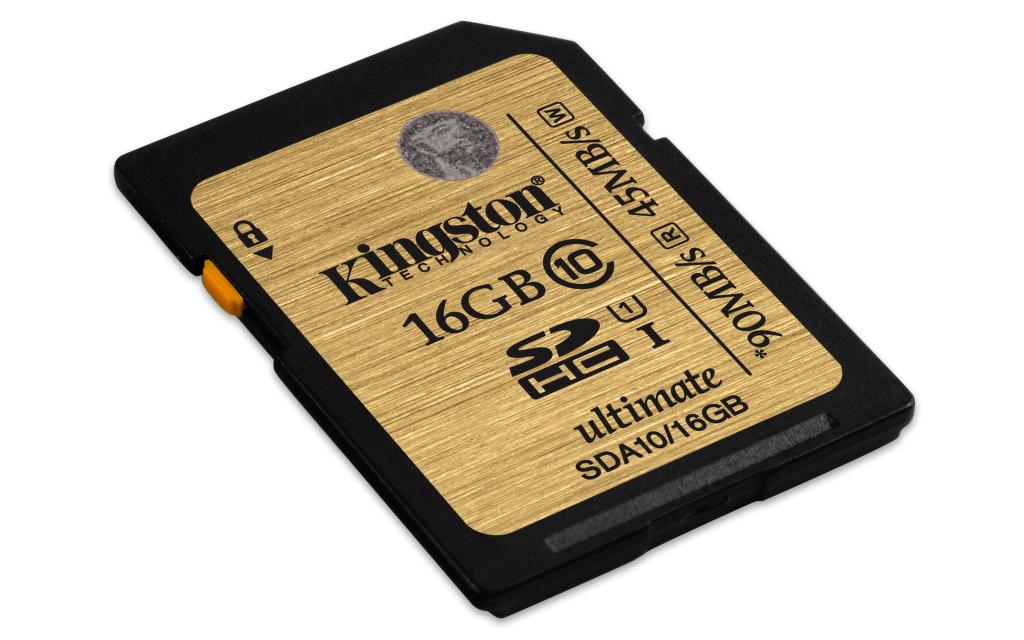 Kingston 16GB SDHC UHS-I ULTIMATE CLASS 10 - paměťová karta