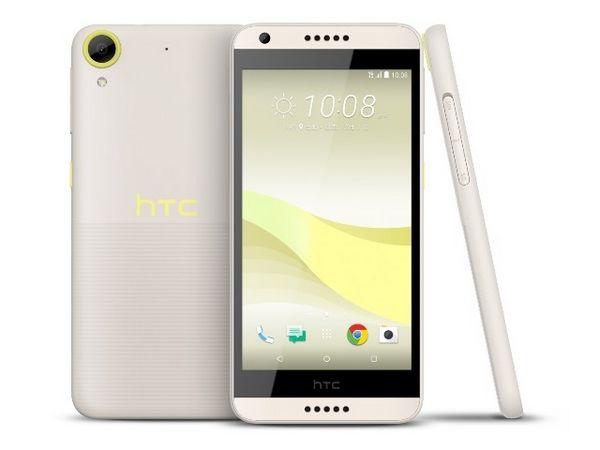HTC Desire 650 bílo žlutý
