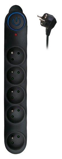 Solight PO54B 5z, 1,5m, Přepěťová ochrana