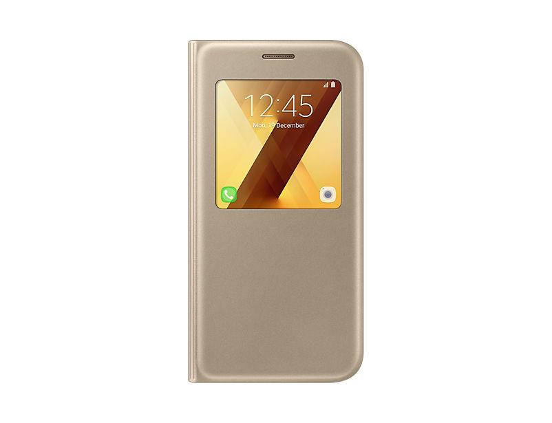 Samsung Galaxy A5 2017 zlaté S-View pouzdro