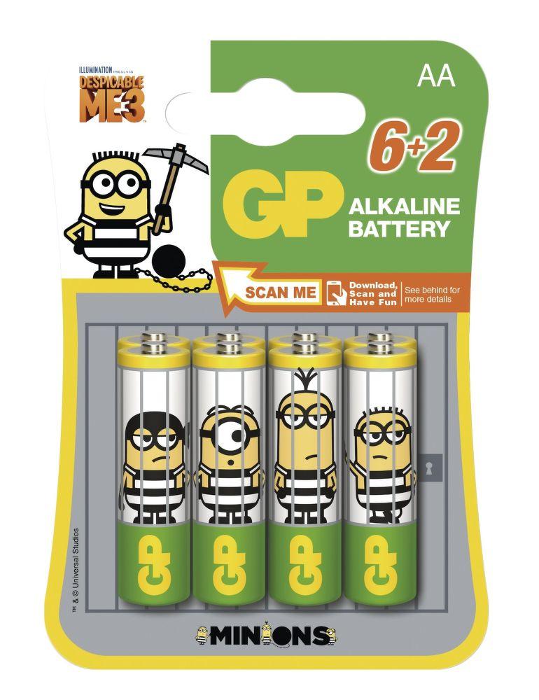 GP Minion AA (LR6) 6+2ks