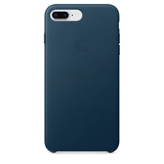 Apple Leather Case pro iPhone 8+/7+, vesmírna modrá