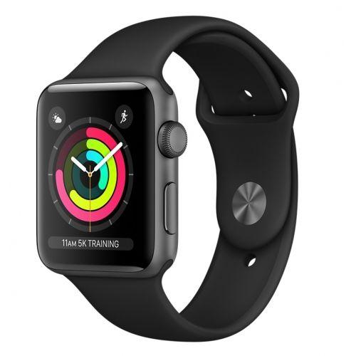 Apple Watch Series 3 42mm vesmírně šedý hliník/černý sportovní řemínek