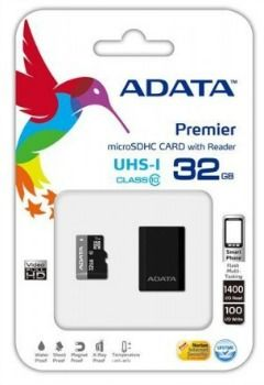 ADATA Premier microSDHC 32GB UHS-I Class10 + USB adaptér