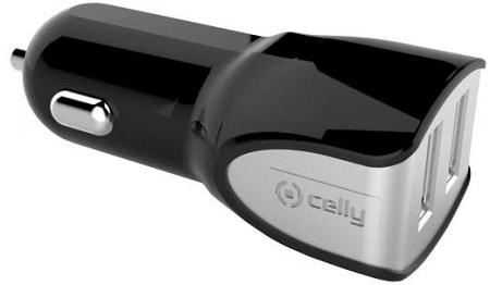 Celly Turbo 2 x USB 2.0 autonabíječka, černá
