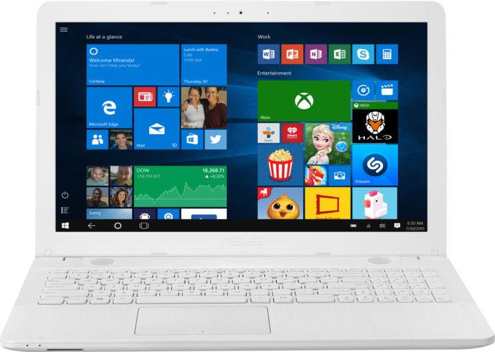 """Asus VivoBook Max X541NA-DM512T bílý + dárek Logo brašna na 15,6"""" notebook (černá), eScan Internet Security Suite Antivirový software na 90 dní, Yenkee YMS 002BK bezdrátová myš zdarma"""