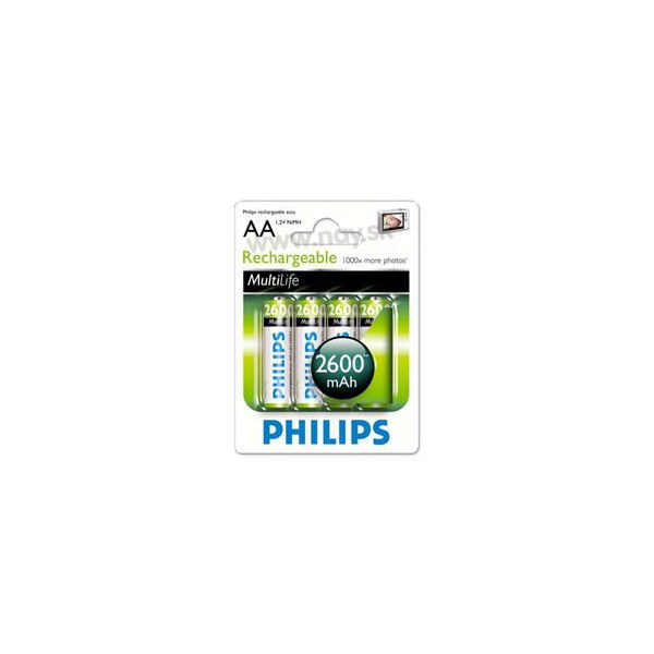 Philips Rechargeable - AA (HR6) 2600 mAh, 4 ks