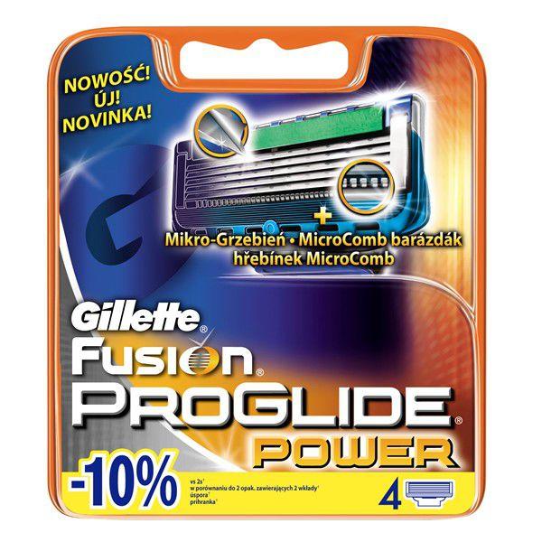 Gillette Fusion Proglide - Náhradní hlavice Power 4ks